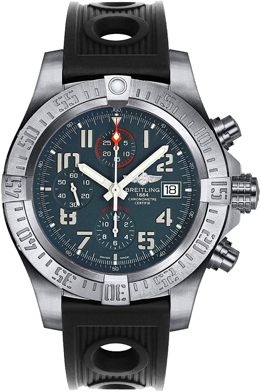 Breitling Avenger Bandit Titanium Men's Watch on Black Ocean Racer Rubber Strap E1338310/M534-200S