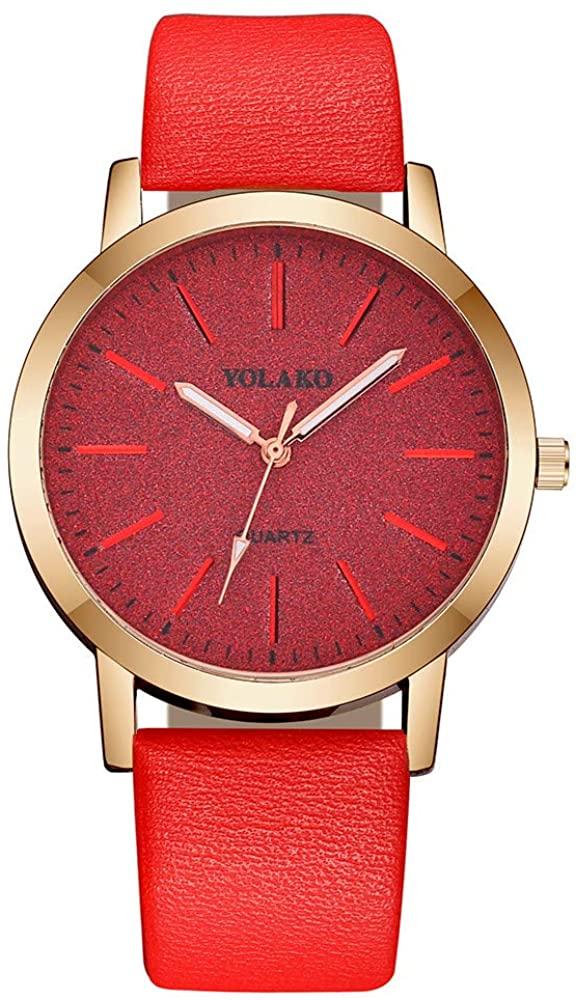 Yeyamei Women's Watches,Luxury Casual Ladies Quartz Wristwatches Leather Band Wristwatch Fashion Classic Dress Business Analog Wrist Watch Gift for Women