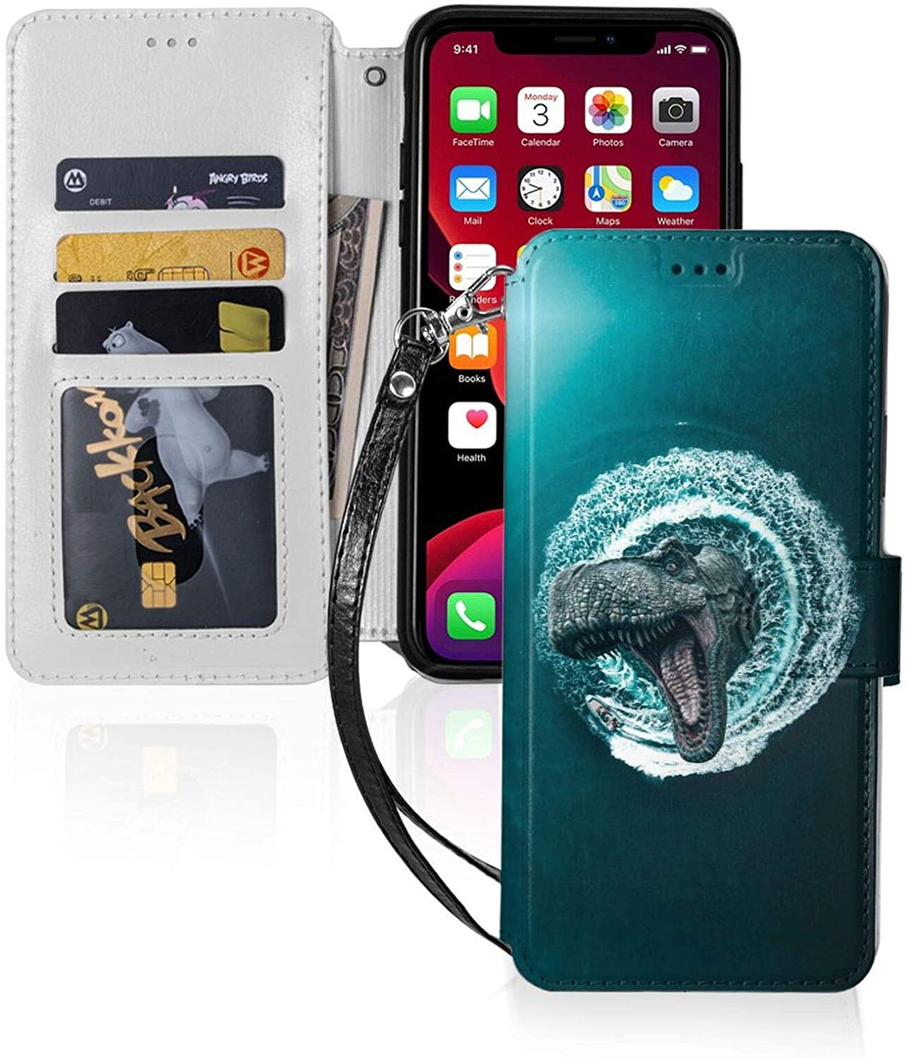 iPhone 11 Wallet Case, Leather iPhone 11 Case with Credit Card Holder Slot Magnetic Closure Shockproof Flip Stand Case Cover