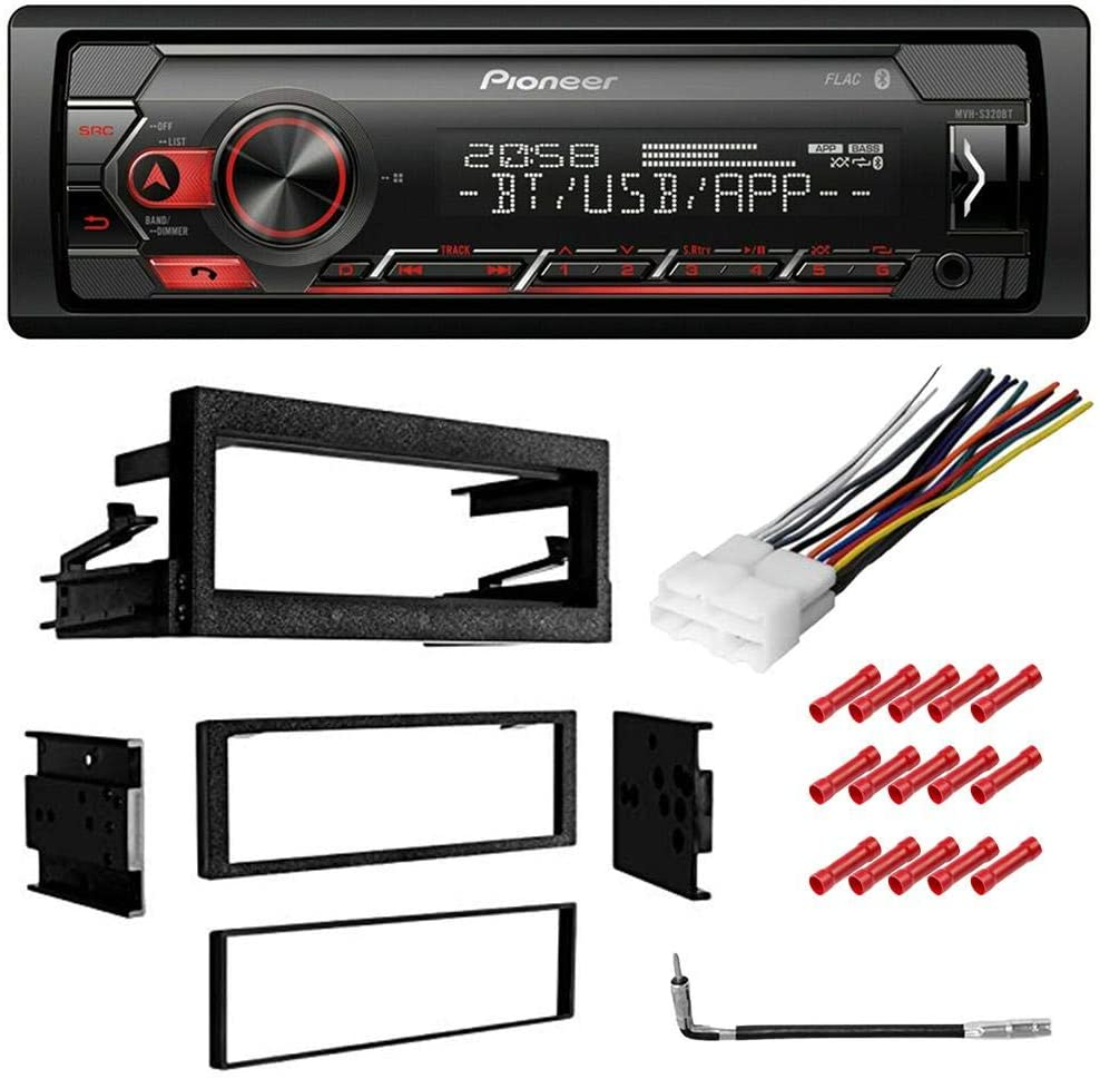 CACHÉ KIT6518 Bundle for 1995-1999 GMC C2500 Suburban with Pioneer Single Din Car Stereo with Bluetooth Digital Media Receiver in Dash AM/FM Radio and Complete Installation Kit (5item)