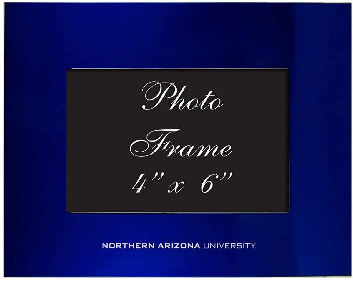 Northern Arizona University - 4x6 Brushed Metal Picture Frame - Blue