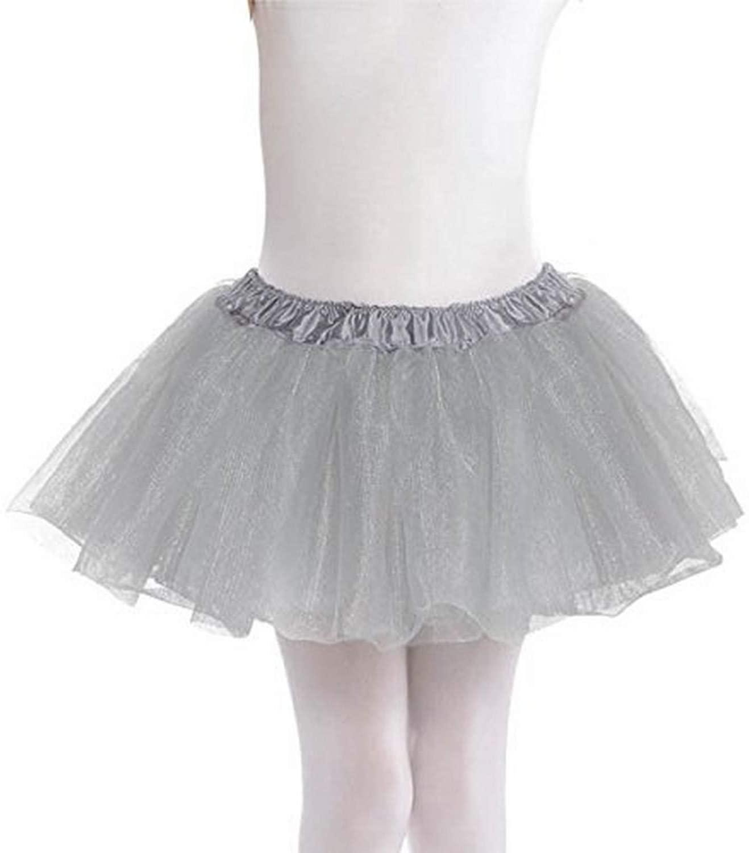 Amscan Child Elastic Waistline Tulle Tutu, Size 10, Silver