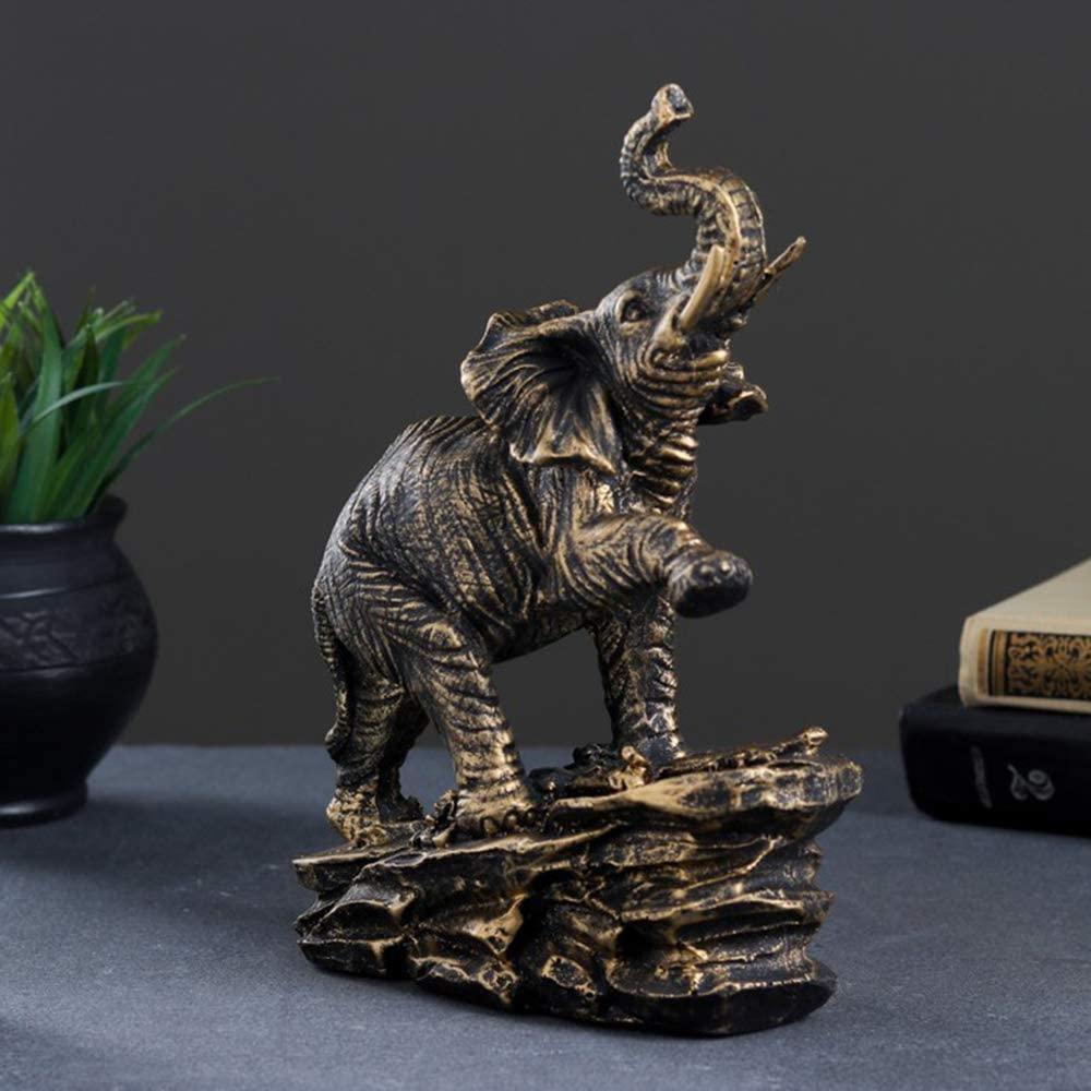 AEVVV Bronze Elephant Statue Elephant Figurines Home Decor - Elephant Home Decor - Shelf Decor Items Home Decor