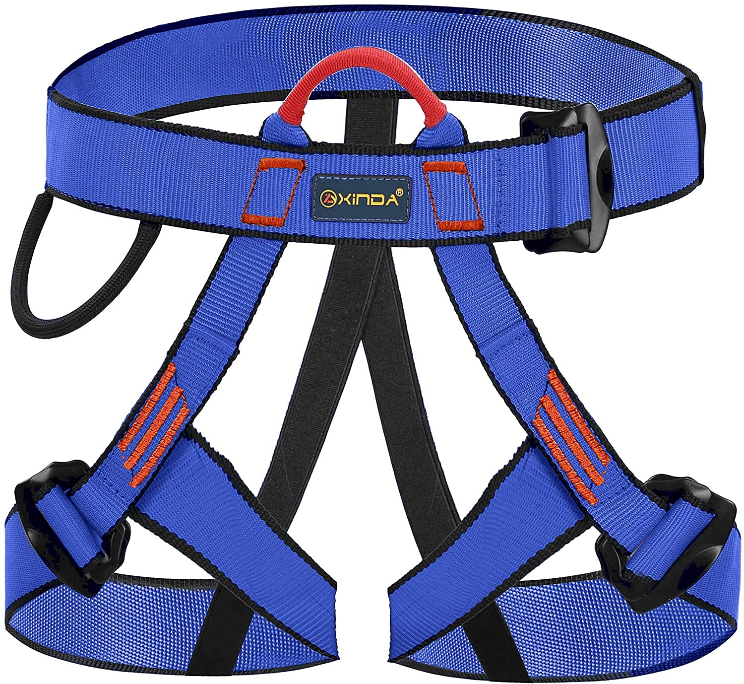 kissloves Half Body Climbing Harness Outdoor Rock Climbing Momentum Harness for Fire Rescue Working on The Higher Level Caving Tree Arborist Rock Climbing Rappelling Equip
