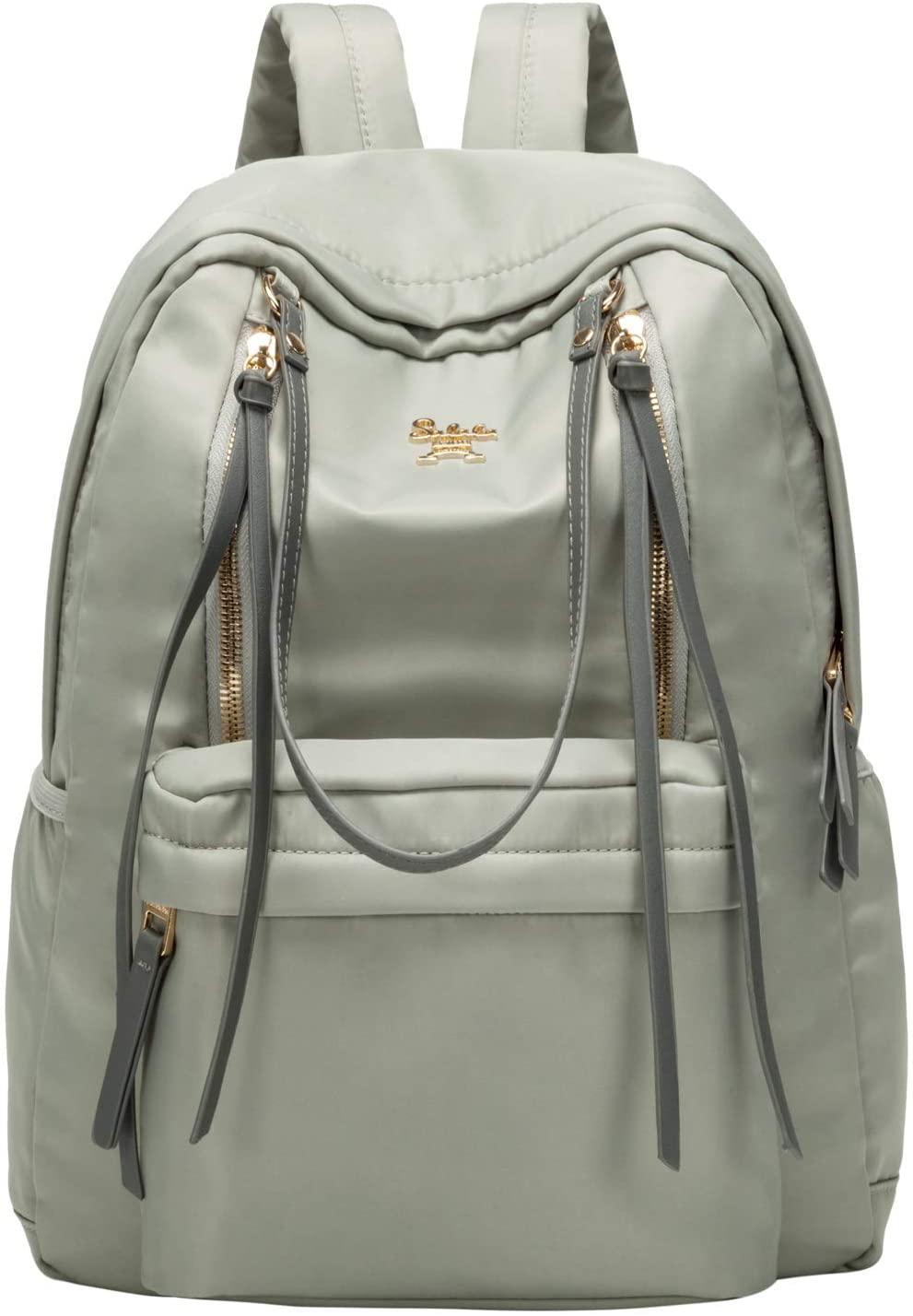 willikva Backpack for Women Travel Latop Backpack Waterproof School College Backpack Business Ladies 15.6 Notebook Lightweight Shoulder Bag (Grey)