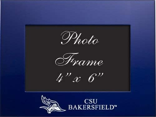 LXG, Inc. California State University, Bakersfield - 4x6 Brushed Metal Picture Frame - Blue