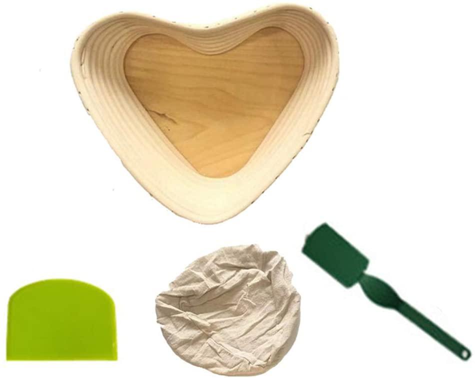 minansostey Wicker Bread Proofing Food Storage Basket Banneton Brotform Rising Rattan Basket Lining Oval Fruit Tray Home Rattan