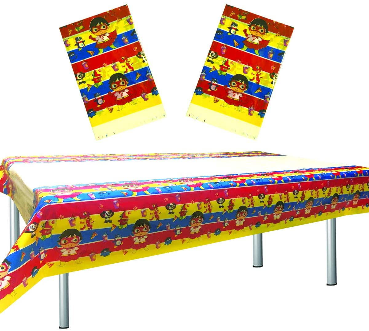 2 Pcs Ryan's World Tablecloth, Ryan's World Table Cover Birthday Party Supplies Decorations (70