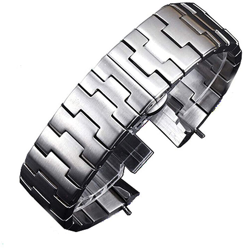 Topsea 24mm Bracelet Band Heavy 316L Stainless Steel Watch Band Replacement for Panerai Luminor 44mm Case