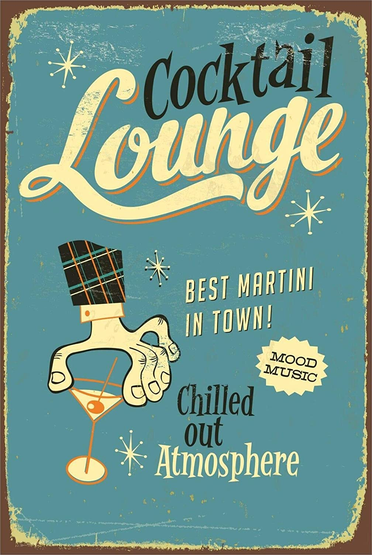 Retro Cocktail Lounge Bar Pub Home Decor Garage Tin Vintage Sign