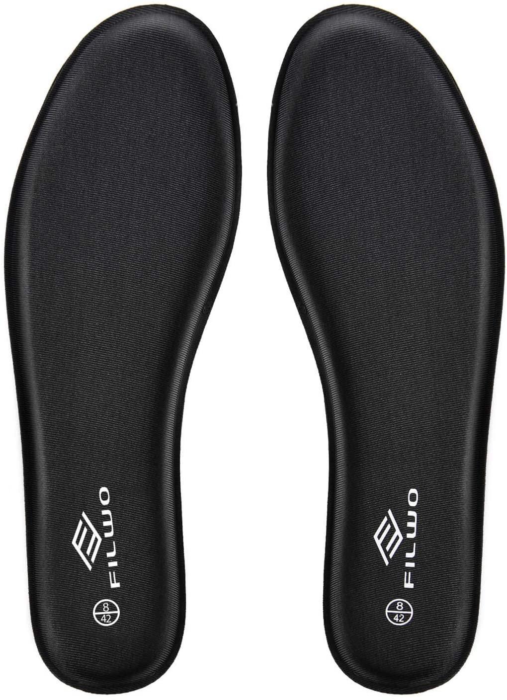 FILWO Memory Foam Shoe Inserts - Men Comfortable Replacement Shoe Inserts, Premium Soft Cushioning Shoe Insoles for Heel Pain, Running, Walking, Working, Sport, Trainers, Hiking 11M US Black