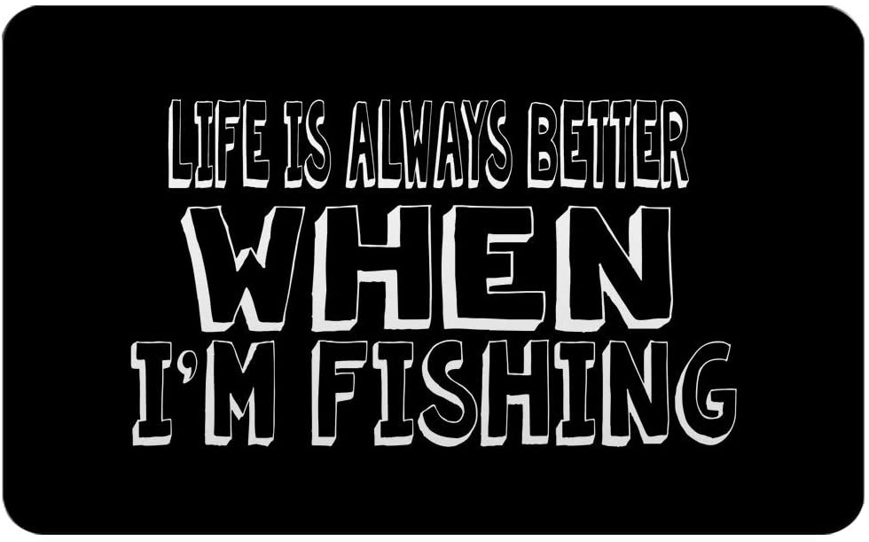 Makoroni - LIFE IS ALWAYS BETTER WHEN I'M FISHING Rectangle Magnet, 2