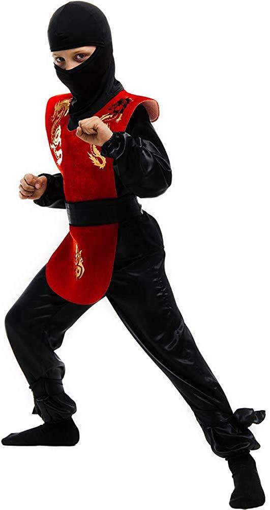 Ninja Child's Costume, Red Ninja Child Costume, Children's Red Ninja Costume, Halloween Child's Red Ninja Costume