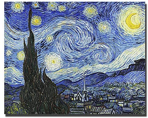 Starry Night by Vincent Van Gogh Custom Gallery-Wrapped Canvas Giclee Art (Ready to Hang)