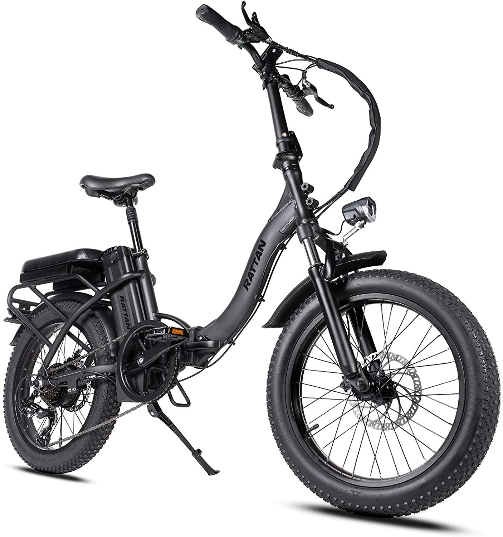 Rattan Folding Electric Bike 750W 500W 48V 13AH LCD Display 4.0 3.0 Fat Tire Ebike for Adults All Terrain Foldaway 7 Speed Sport Commuter Snow Bicycle Off Road Dirt Bike Couple Models