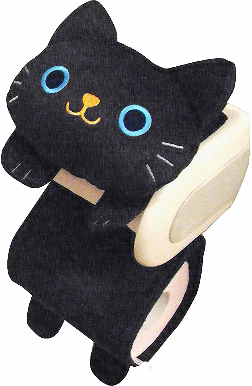 neko sippo monogatari Cat's Toilet Roll Paper Holder Black