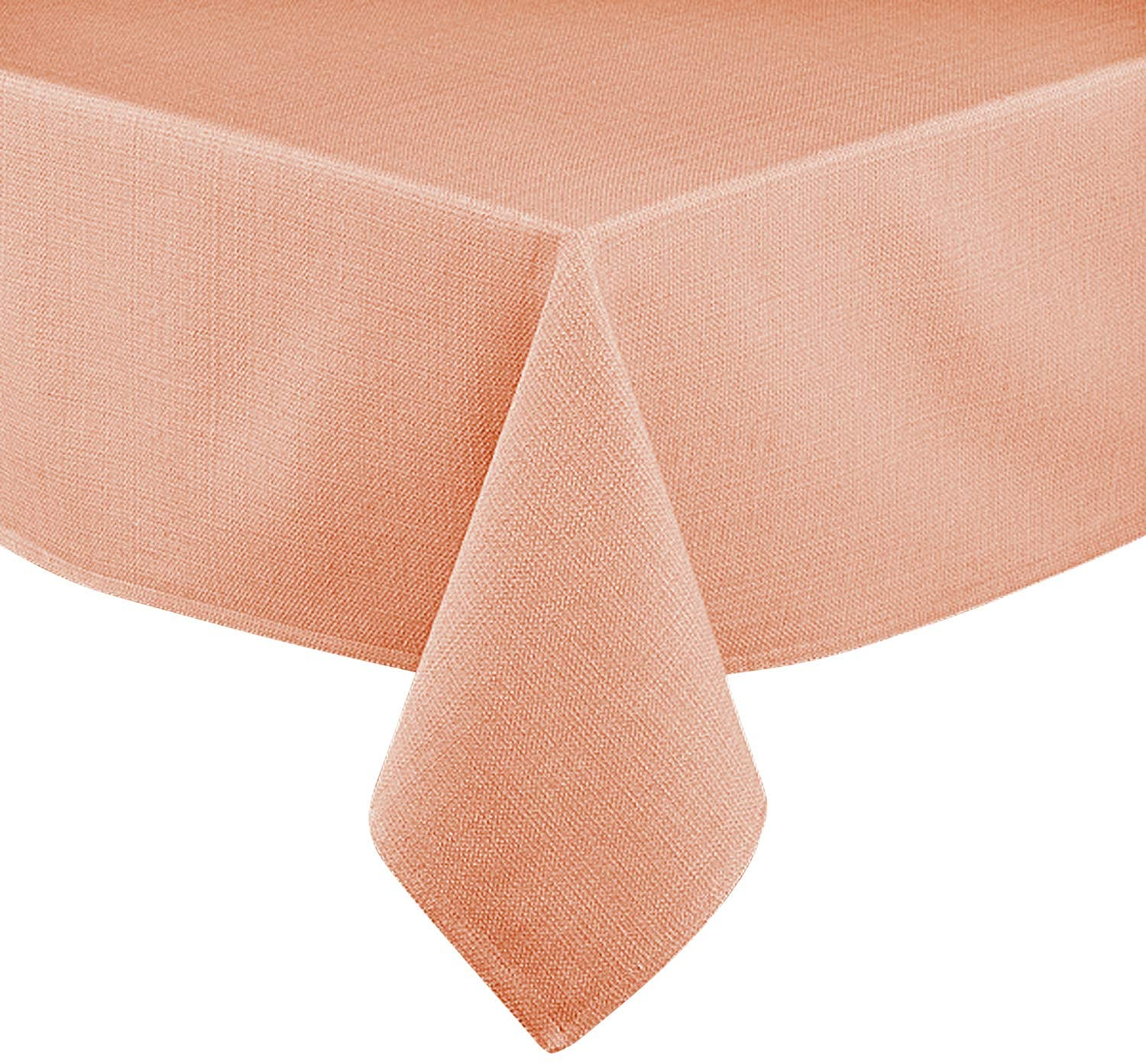 Lintex Linens Rio Cotton Polyester Indoor Outdoor Table Linens, Napkins 18-Inch by 18-Inch Set of 4, Coral