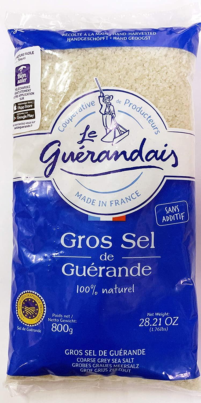 Le Guerandais Coarse Sea Salt Gros Sel De Guerande, 28.21oz per bag (2 bags)