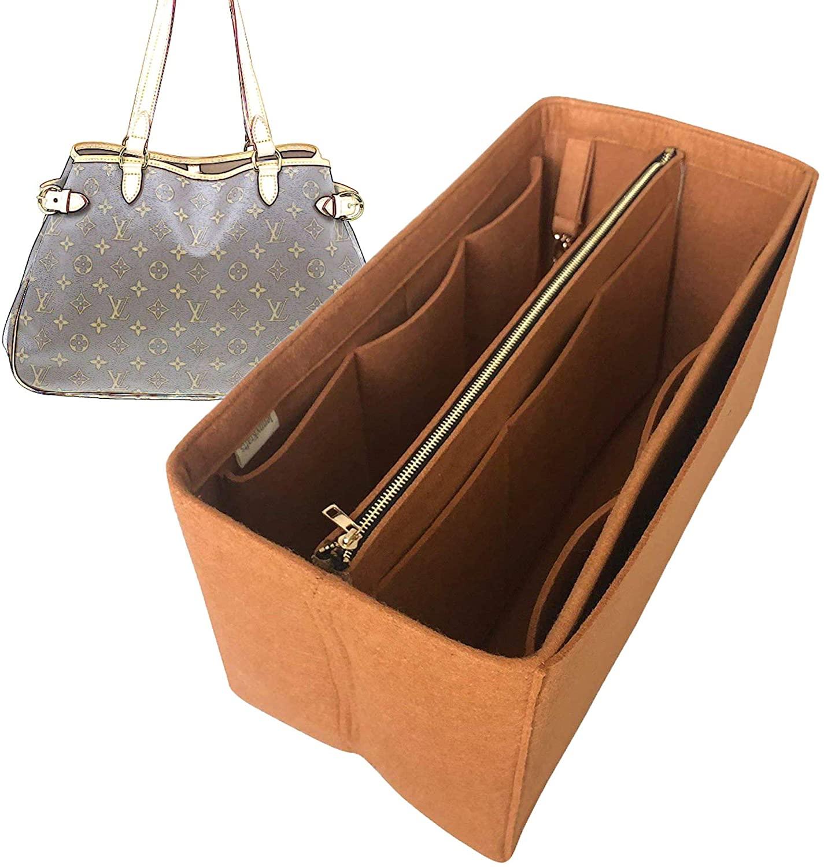 Batignolles Horizontal Organizer, Felt Purse Insert Bag Liner Shaper Protector Pouch Tote Organize Handbag (Style B)