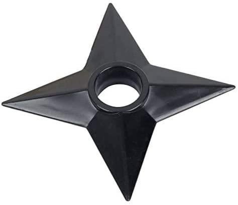 MUXIOM Naruto Shuriken Throwing Star Real Size Plastic Costume (2 Pieces) Black