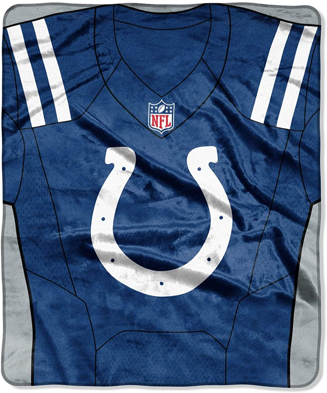 Northwest NFL Indianapolis Colts Royal Plus Raschel Throw, One Size, Multicolor