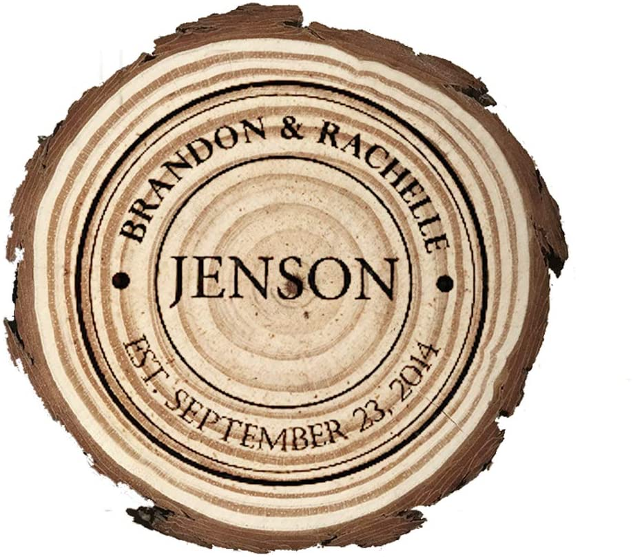 Personalized custom carved coasters, natural wooden coasters, custom coasters,wooden slice coaster.(4 pieces/set)(Mbd7)