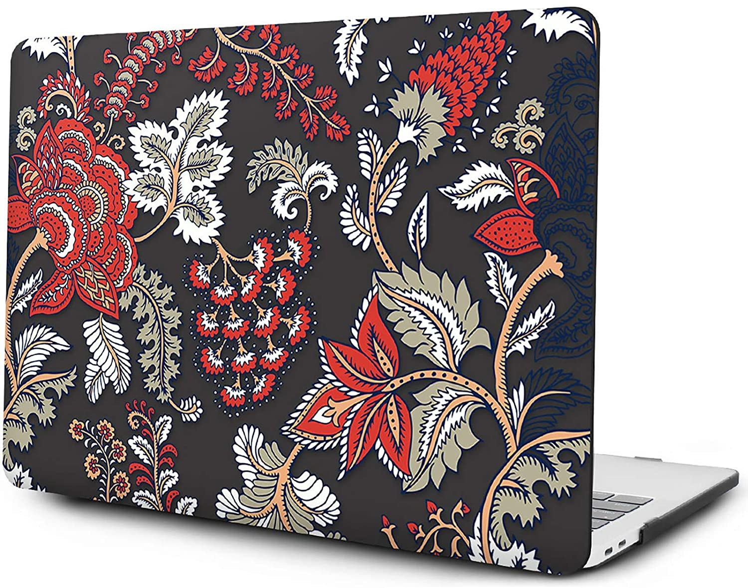 OneGet MacBook Air 13 Inch Case 2018 A1932 Painting Flower Pattern Plastic Hard Shell Cover with HD Screen Protector & TPU Keyboard Cover for 2018 MacBook Air 13 A1932 with Touch ID (F24)
