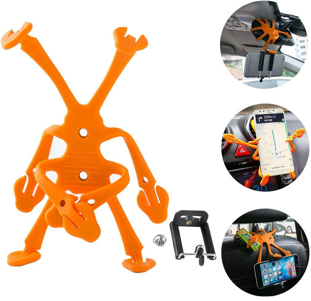 DZG Car Phone Mount Air Vent Holder Electronics Universal Dash Cradle(Orange)