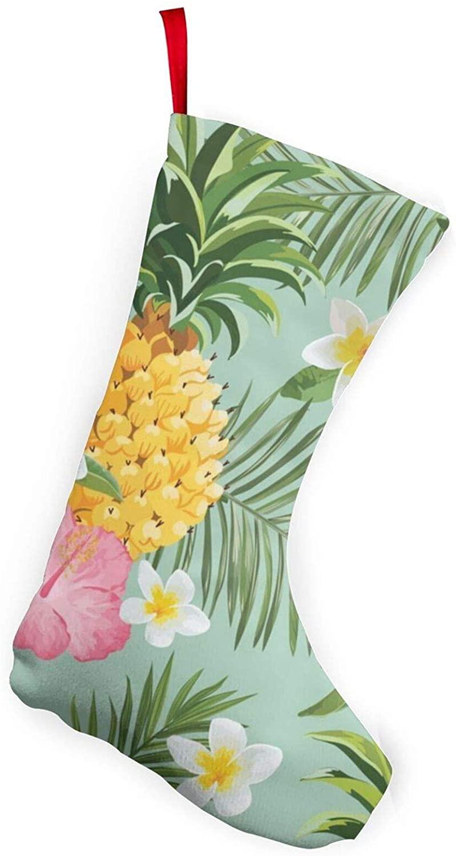Hawaiian Pineapple Christmas Stockings Xmas Party Decorations for Family Holiday Season Decor Santa Gifts Socks