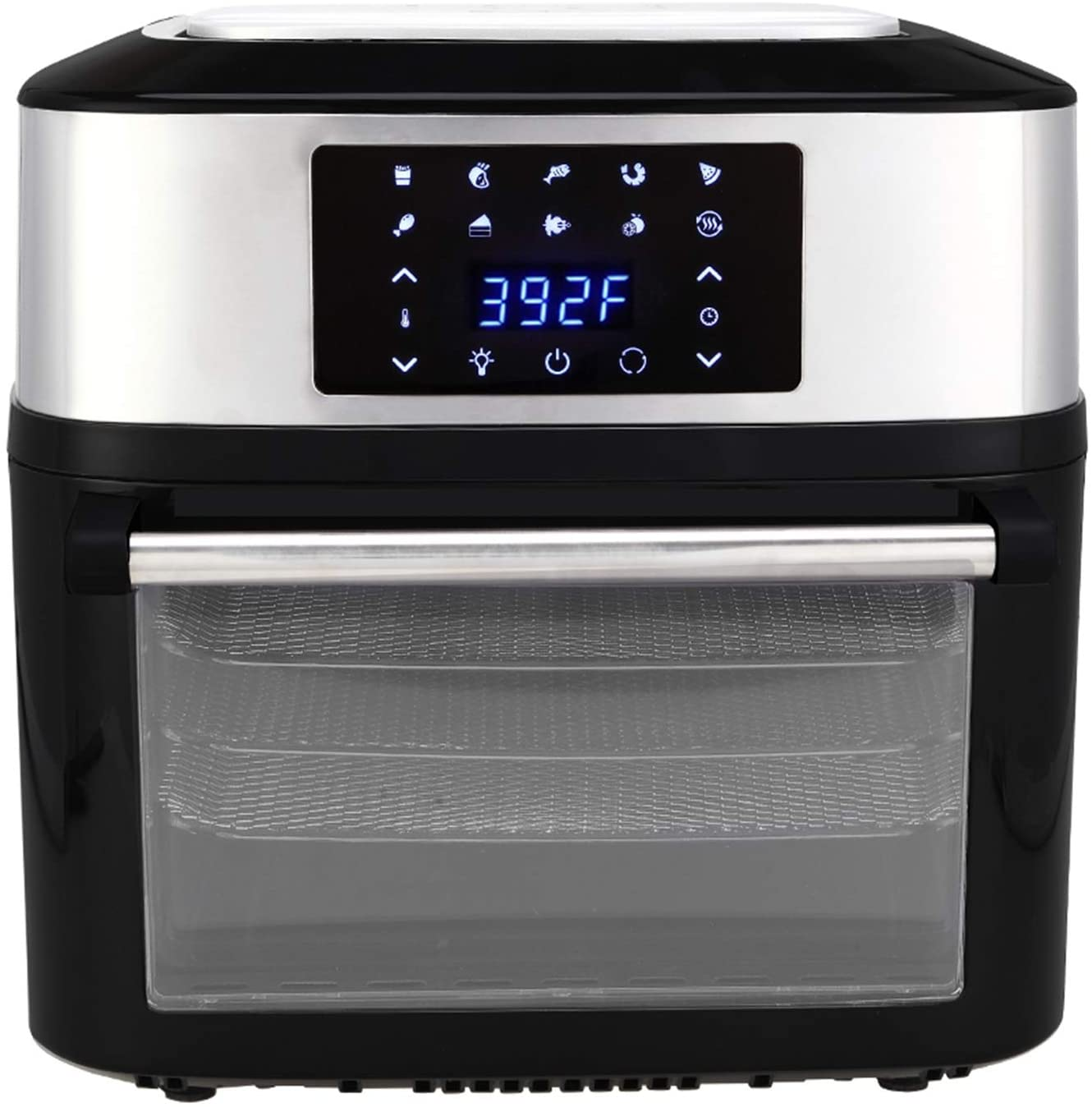 US 120V 16.91Quarts / 16L Air Fryer 1800W Black Modern Air Fryers for Air Frying, Roasting & Keep Warm, Electric Hot Oven Oilless Cooker