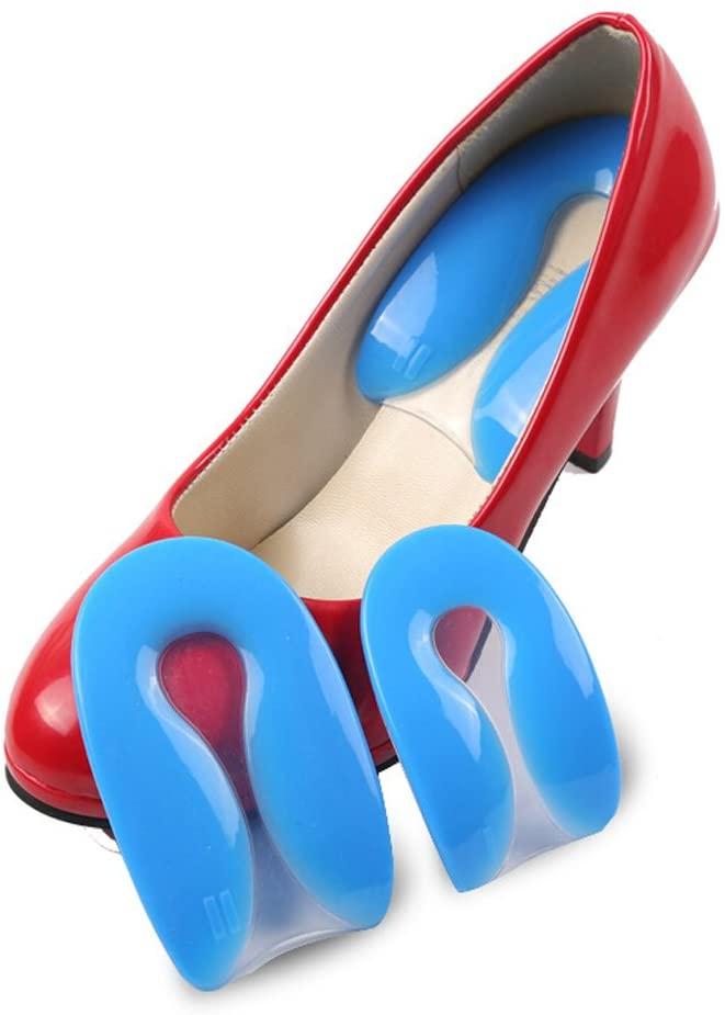 Silicon Gel U-Shaped Spur Cup Heel-Plantar Fasciitis Cushion Remission Correction U-Shaped Heel Pad M