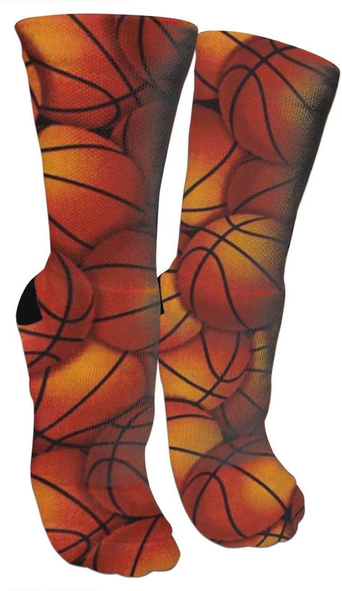 antkondnm Many Basketball Men's Full Cushion Cotton Work Boot Socks