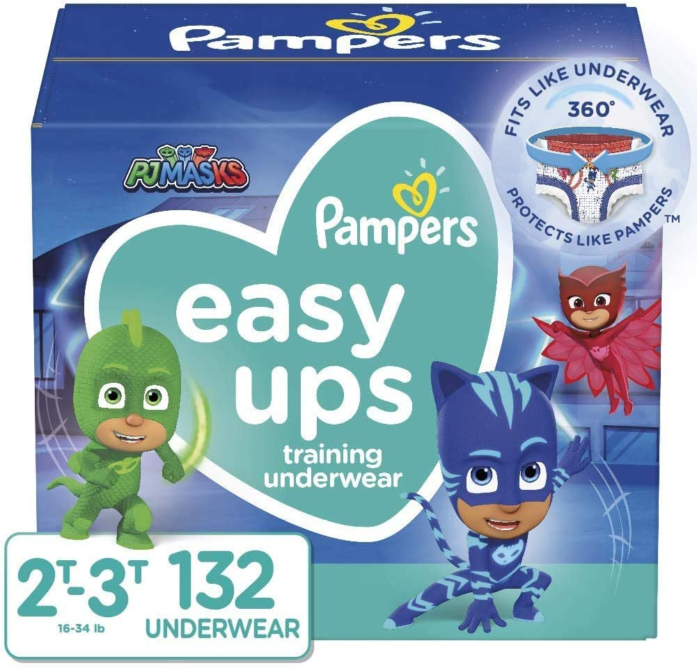 Pampers Easy Ups Training Pants Boys and Girls, Size 4 (2T-3T), 132 Count, Enormous Pack
