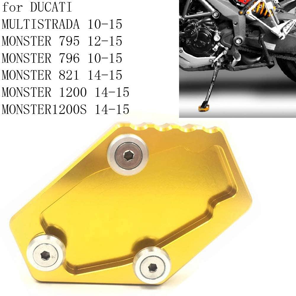 PACASK Motorcycle Bike Side Stand Enlarge Pad For Ducati MULTISTRADA 2010-2015/MONSTER 795 2012-2015 MONSTER 821 1200/1200S 2014-2015