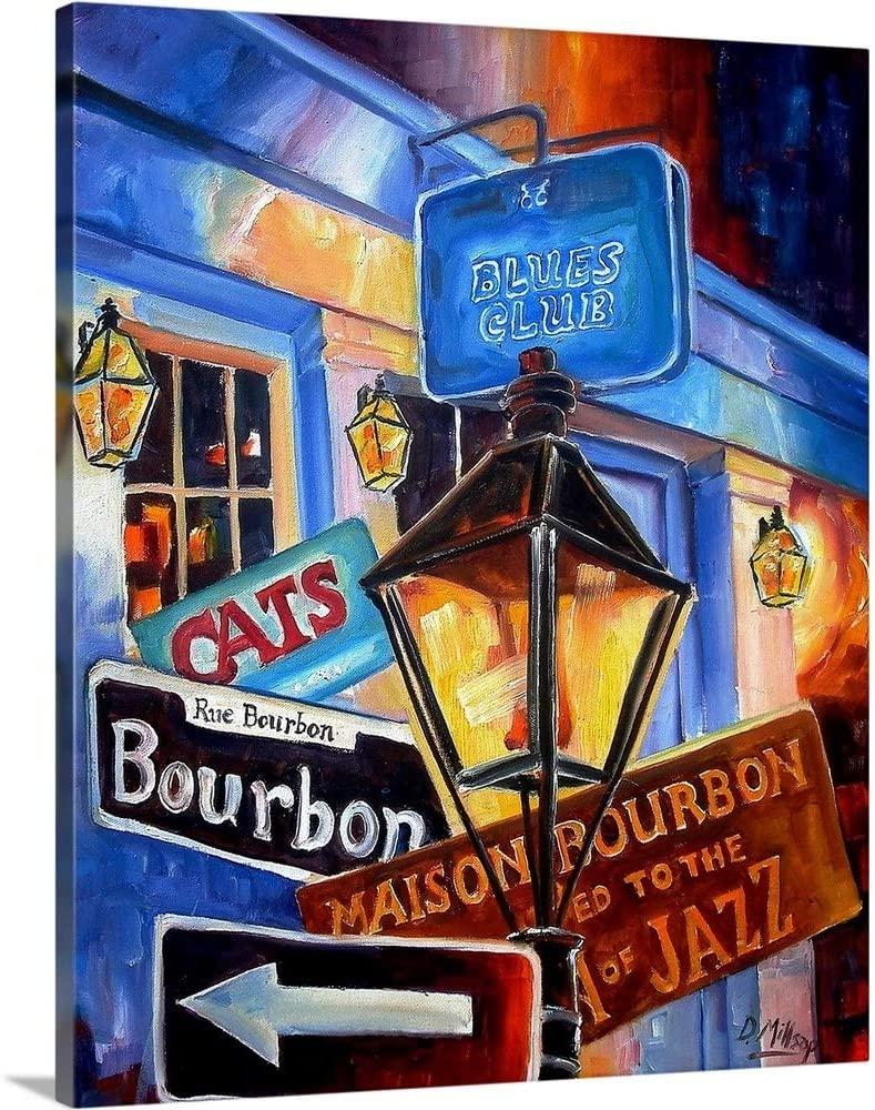 Signs of Bourbon Street Canvas Wall Art Print, 20