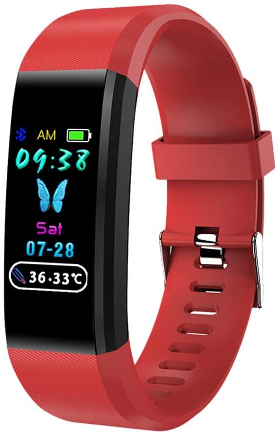 Y2 Fitness Tracker Temperature Test Bracelet IP67 Waterproof Smart Watches Multi-Sport Mode/Heart Rate/Blood Oxygen/Step Recording/Calorie Function/Information Push for Men&Women