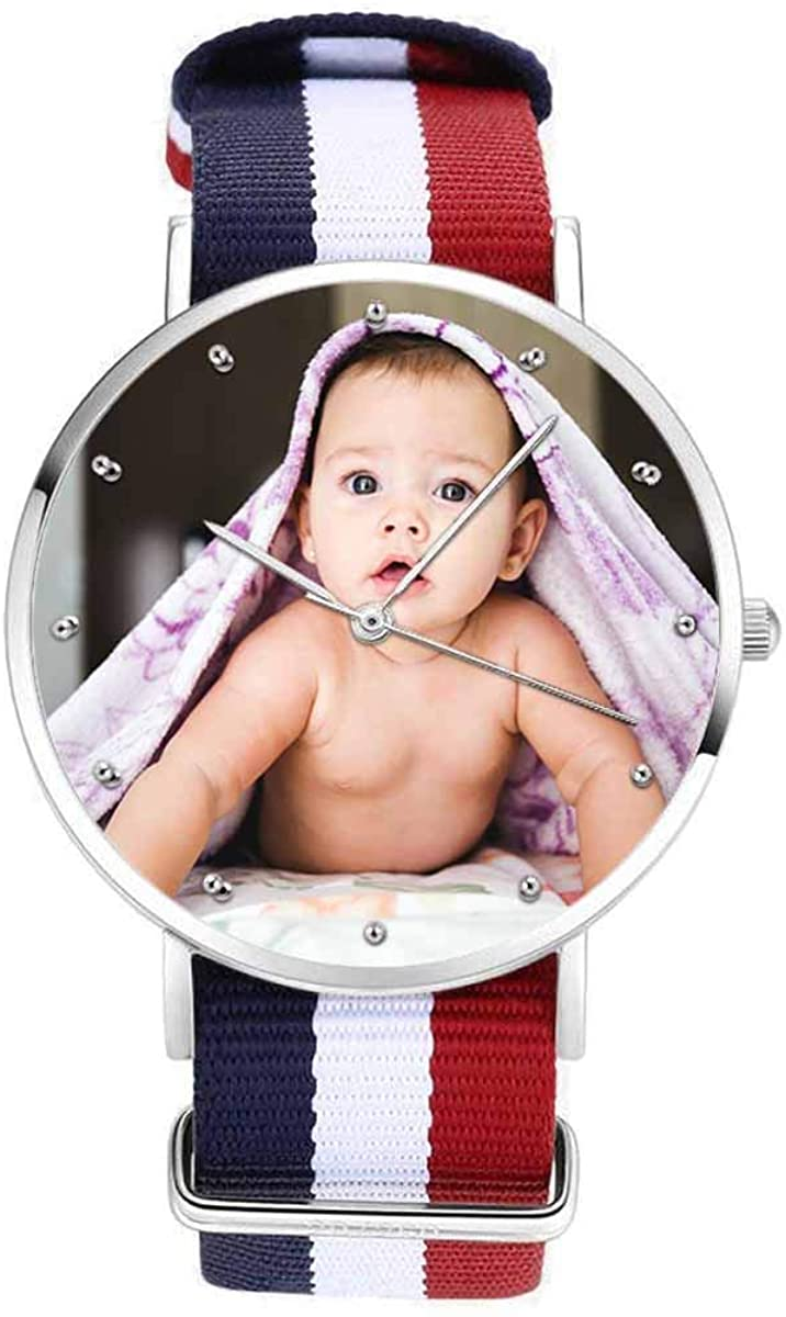Custom Watches, Personalized Lovely Baby Photo Watch for Men Women Mom Dad Friends