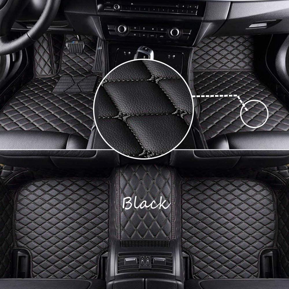 Duobao-us Customize Car Floor Mats Made for Suzuki Kizashi Swift Vitara SX4 PU Leather Waterproof Anti-Skid Full Coverage Front Mat and Rear Mat/Set (Black)