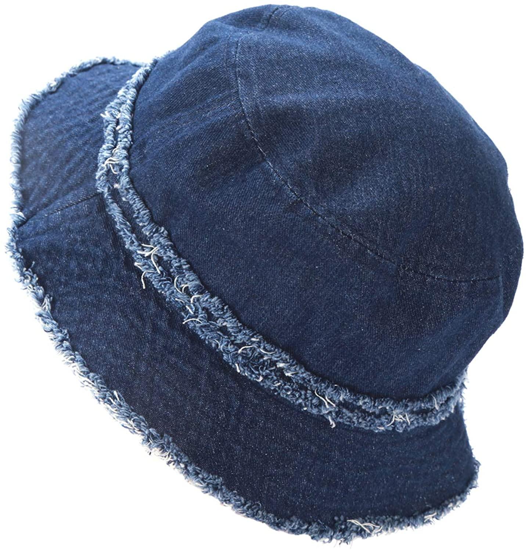 kejea Bucket Hat Women Men Teens Cotton Denim Outdoor Fisherman Visor Caps