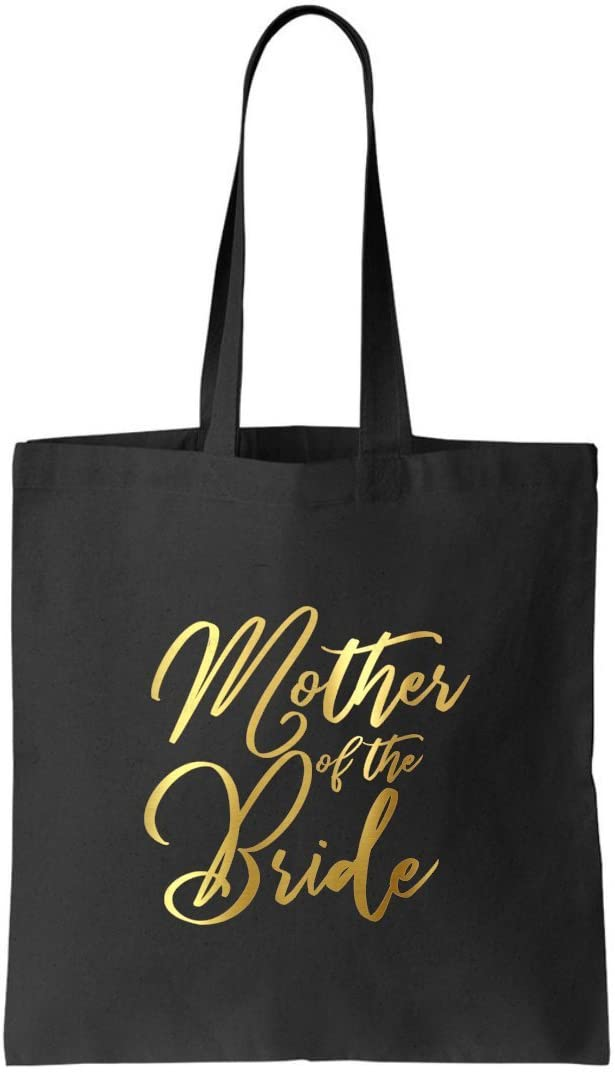 Mother of the Bride gift Tote bag by Graceful Greeting Co Heavy Black Canvas keepsake