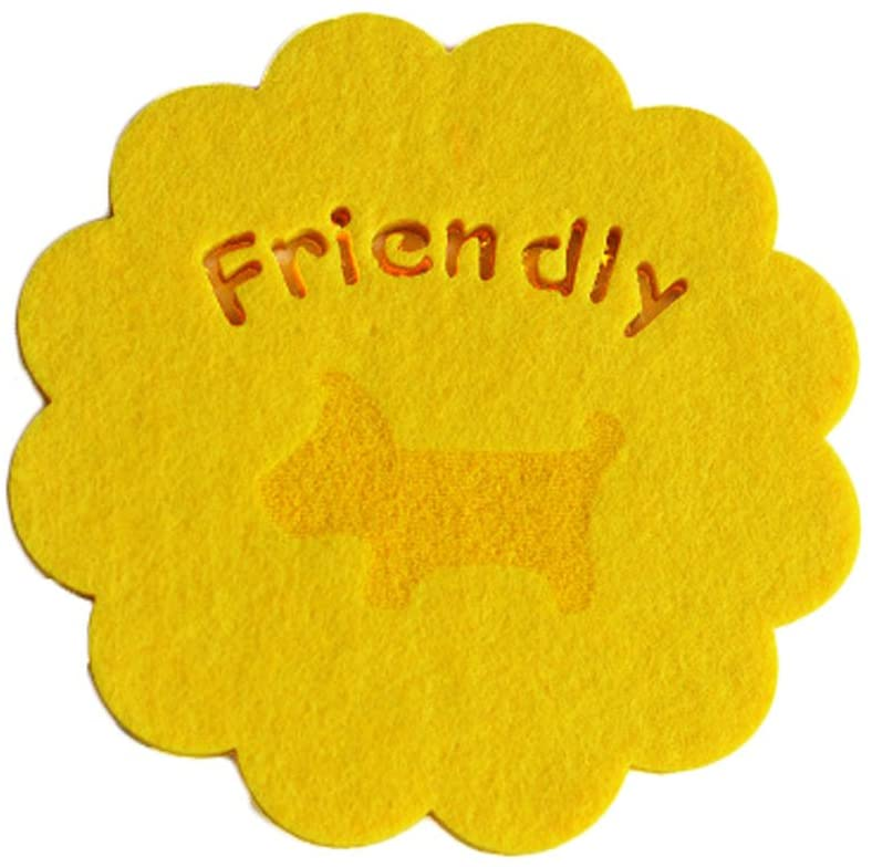 Kylin Express Set of 12 Felt Water Absorpted Potholders/Table Coasters/Cup Mats Yellow