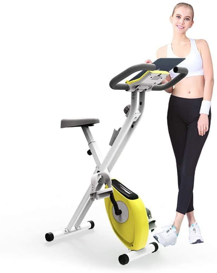 Exercise Bike Indoor Cycling Bike Stationary Folding Magnetic Erection Bike with Tablet Stand Bikes