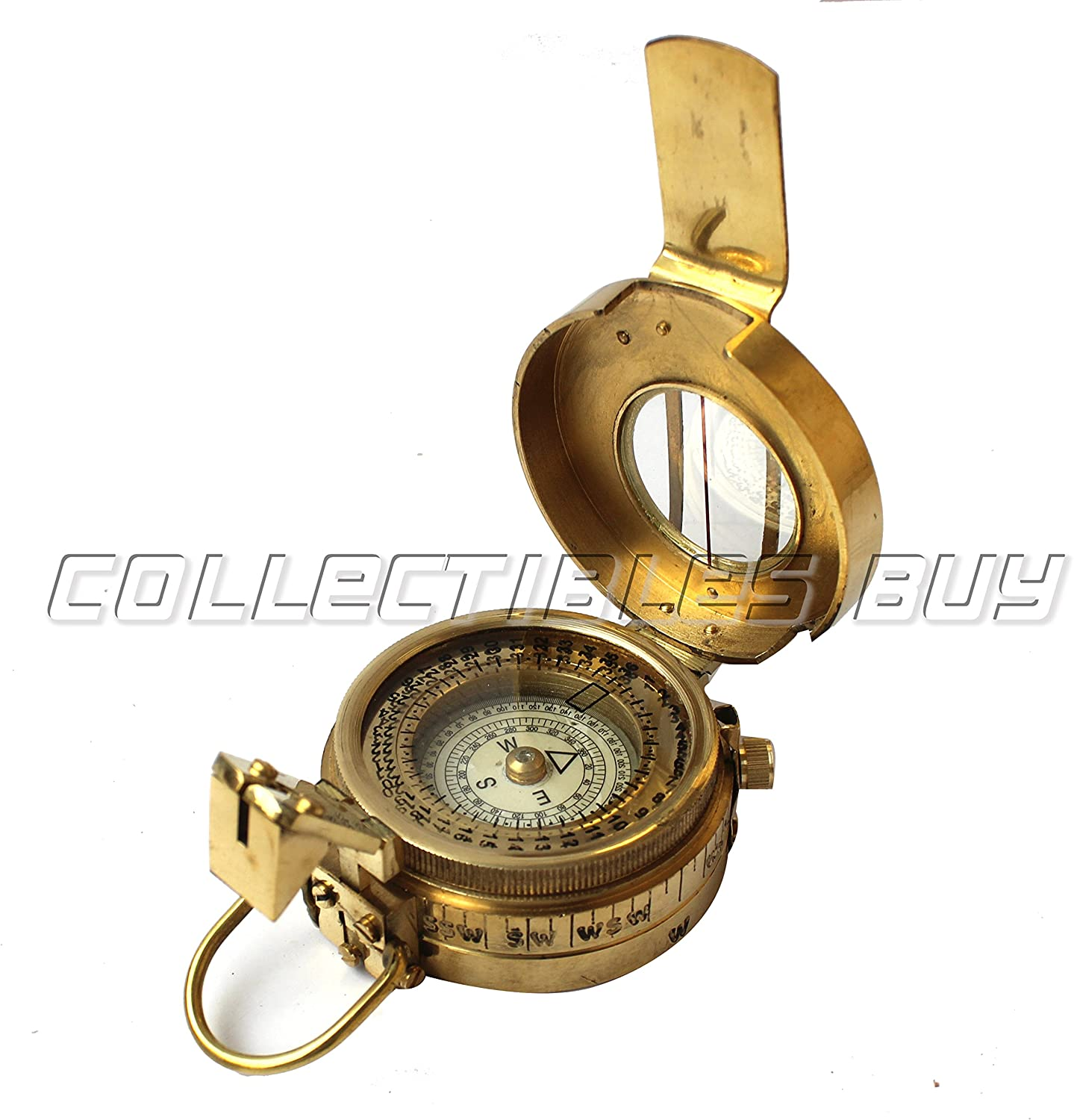 collectiblesBuy A Marine Military Brass Compass Handmade Vintage Pocket Antique Marine Sailor