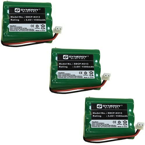 Synergy Digital Cordless Phone Batteries - Replacement for Sanik GES-PCF06 Cordless Phone Battery (Set of 3)