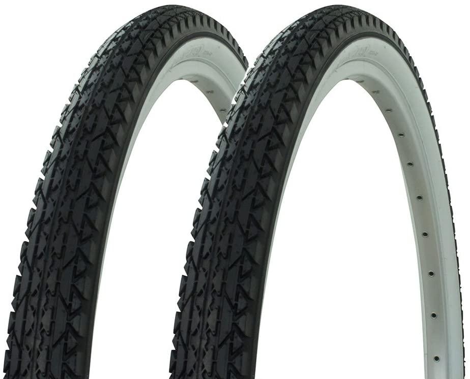 Fenix Cycles 1 Pair of Wanda Diamond Tread Tire White Wall 26 x 2.125, for Beach Cruiser Bikes