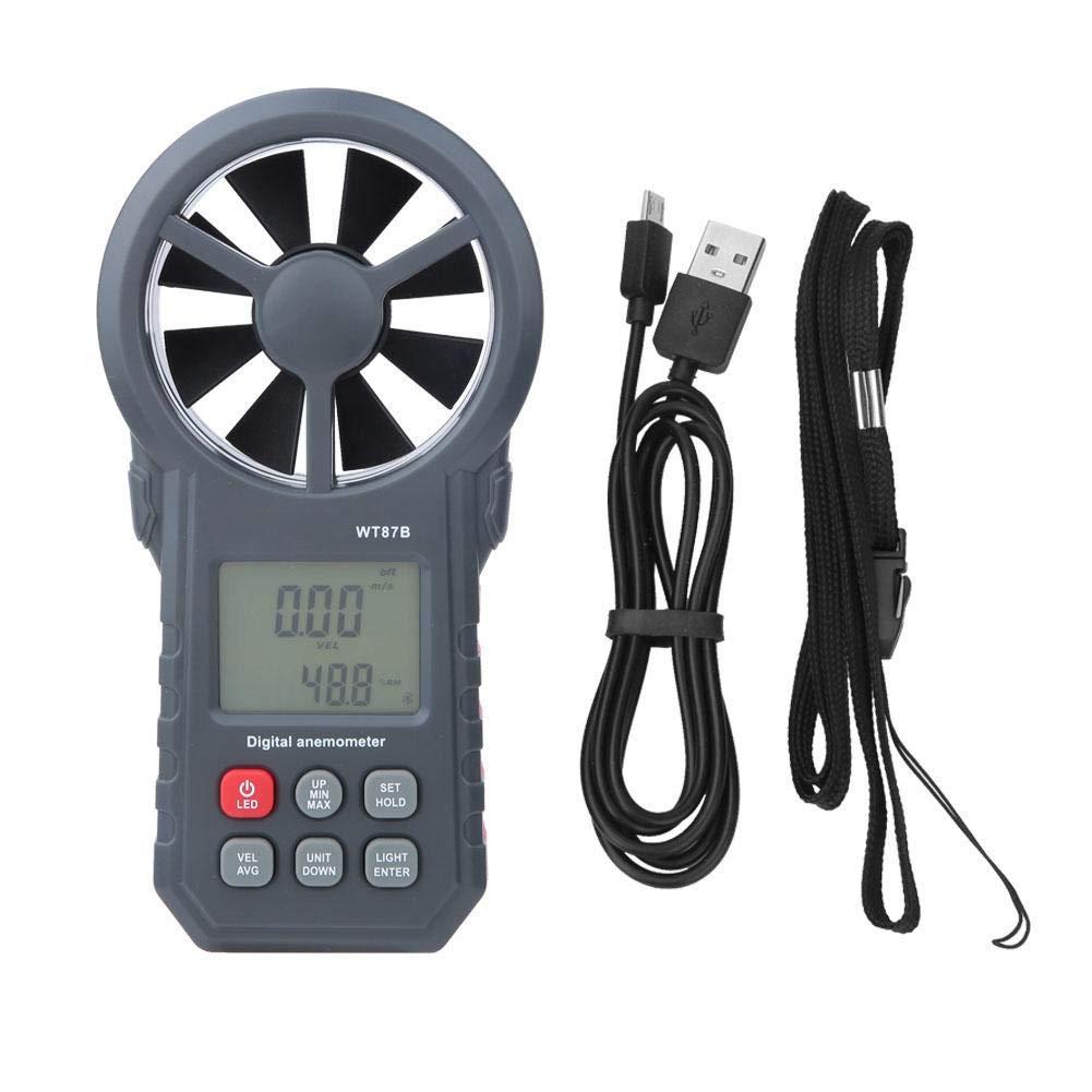 WT87B Digital Anemometer,Handheld Portable USB Bluetooth LCD Digital Anemometer,Thermometer Wind Speed Meter,Wind Speed, Temperature Measurement,-10-45℃