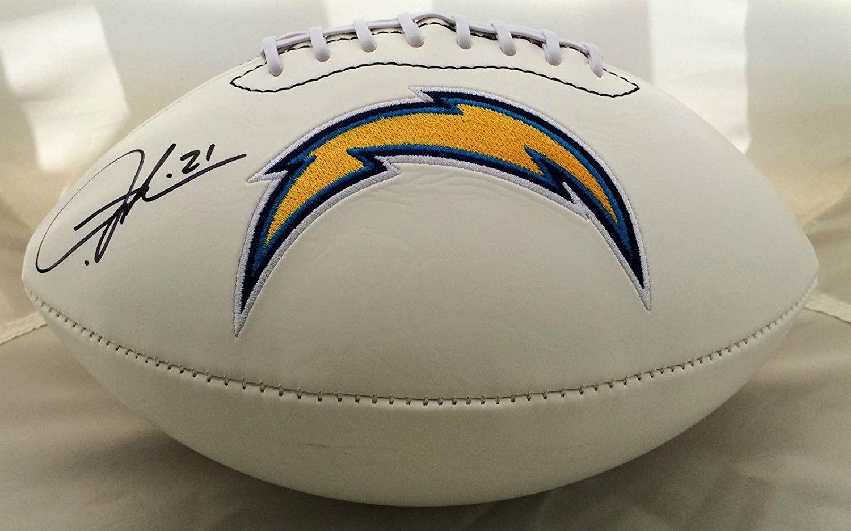 Ladainian Tomlinson Signed San Diego Chargers Logo Football JSA - Autographed Footballs