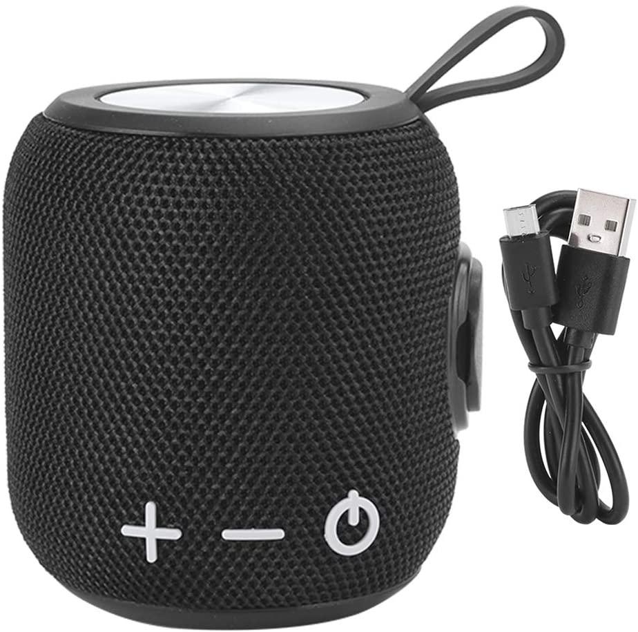 Socobeta Sports Outdoors Loudspeaker Portable Audio Speaker Mini Wireless Bluetooth 5.0 Waterproof Speaker(Black)