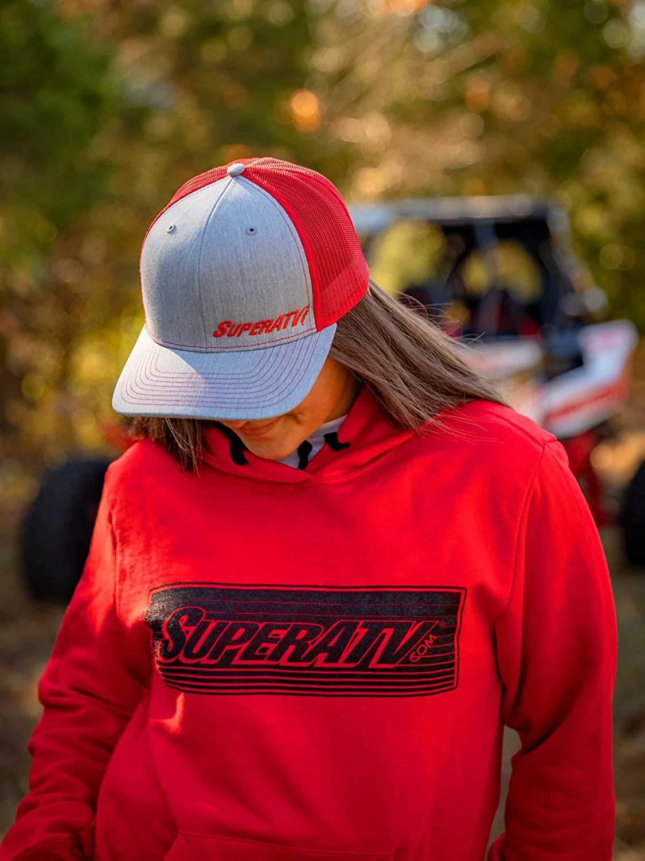 SuperATV Red Banded Logo Hoodie/Sweatshirt/Pullover - 2XL