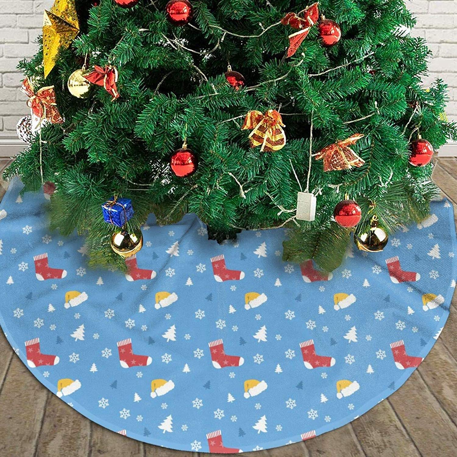 YEAHSPACE Christmas Tree Skirt for Christmas Decorations Holiday Party Decoration